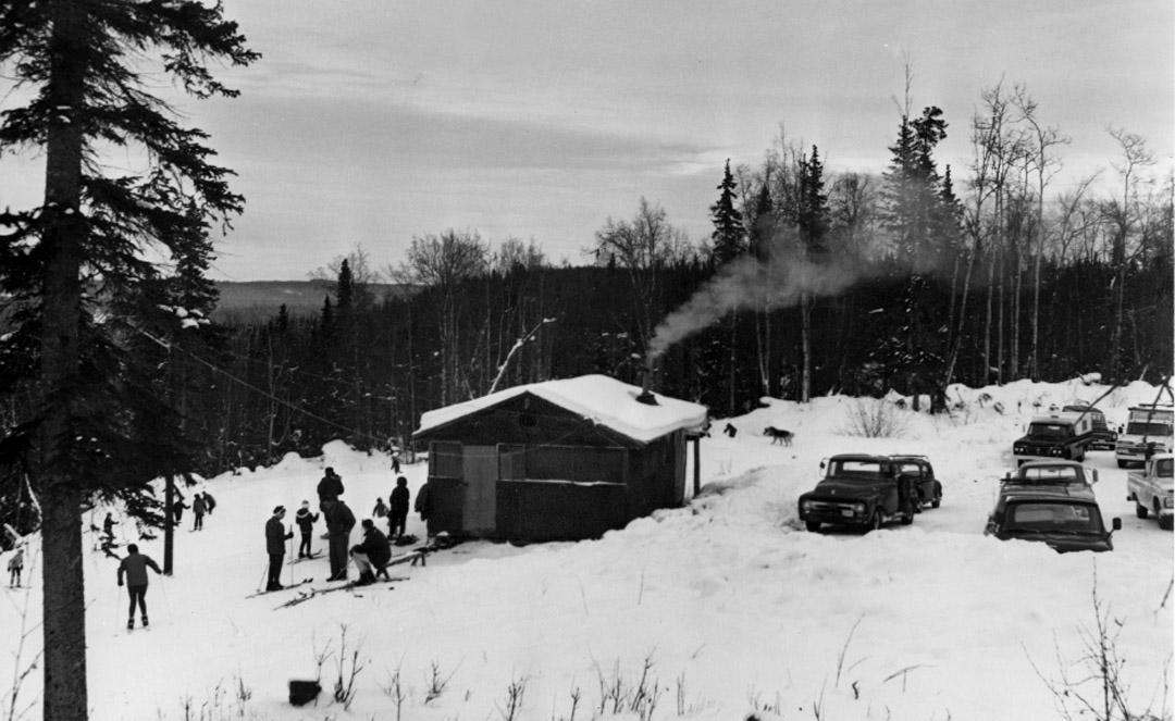 vintage skating cabin